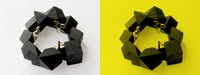 Cube Composition: Ebony, gold, black diamonds. 2005